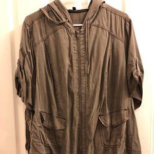 TORRID taupe short sleeve jacket